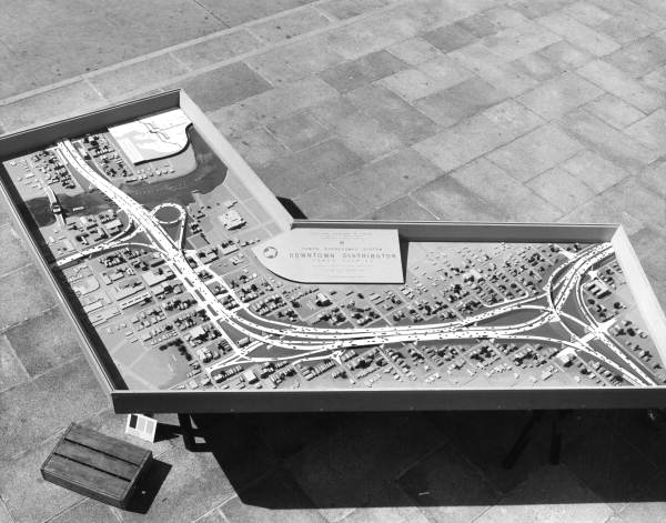 1960 model of interstate design, directly through the heart of Tampa